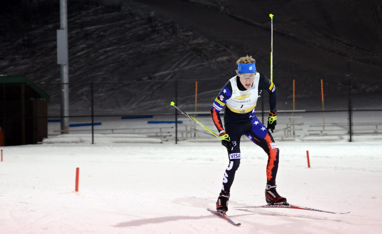 Back competing on skis for the first time since August, Ben Berend is doing his best to put offseason ankle surgery behind him and pursue his dream of showing well at this winter's Junior World Championship.