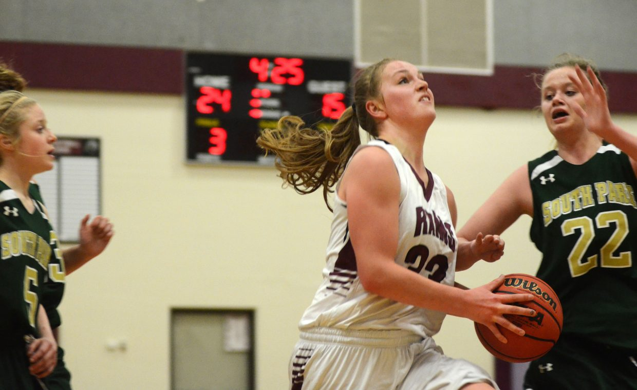 Soroco Rams senior Jessica Rossi finished with a game-high 19 points and 10 rebounds Saturday afternoon, helping her team to a big win against the visiting South Park Burros.
