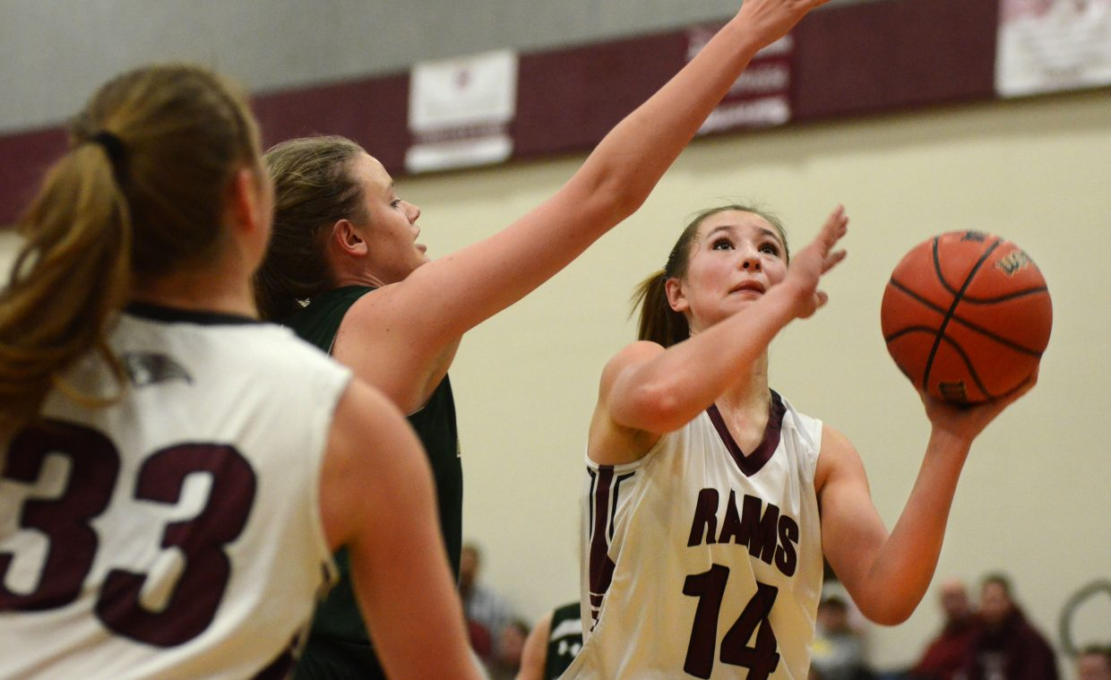 Briana Peterson was all over the court Saturday afternoon in the Soroco Rams' 82-28 win against visiting South Park. Peterson scored 13 points, grabbed a game-high 16 rebounds and tossed in three assists.