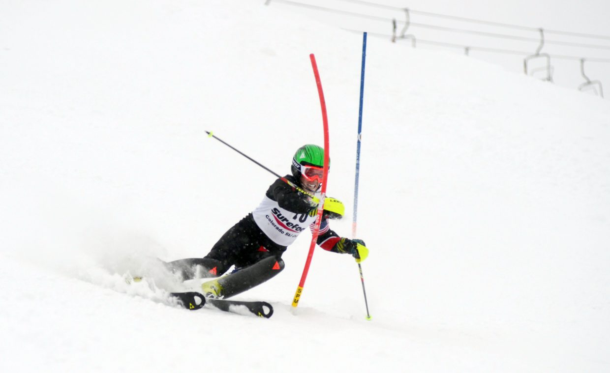 Former Steamboat Springs Winter Sports Club skier and current Ski Club Vail athlete Hig Roberts raced back from fourth place to win the men's Holiday Classic on Sunday.