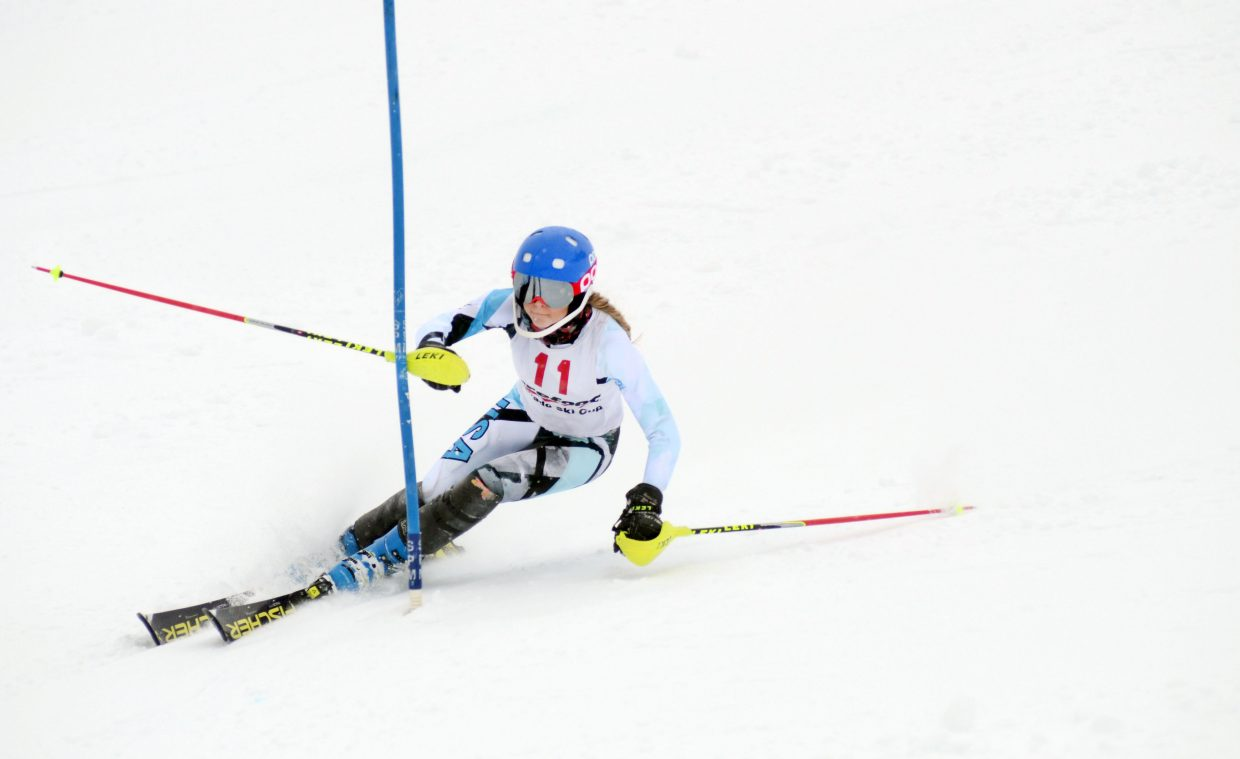 Steamboat Springs High School student and Winter Sports Club skier Serina Kidd finished 15th at Sunday's Holiday Classic.