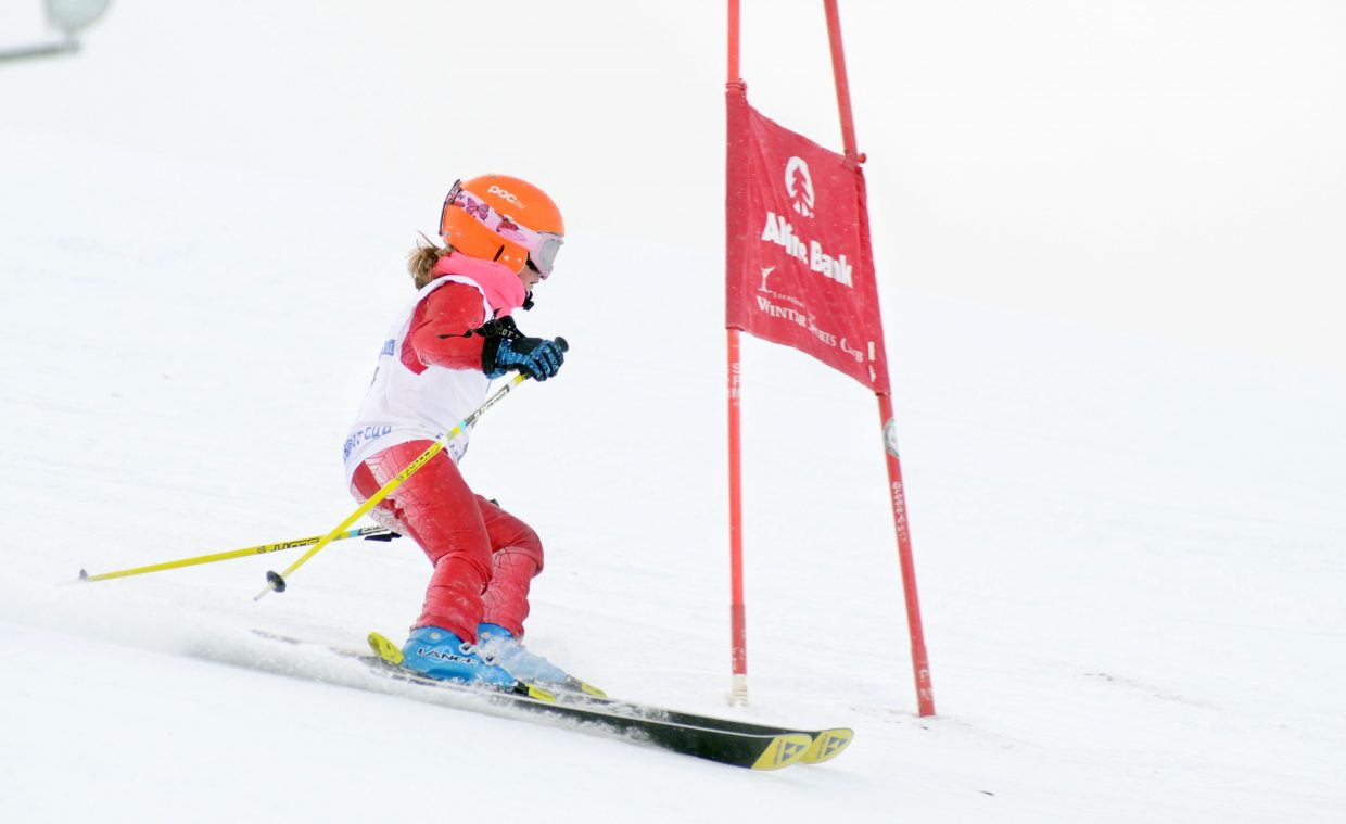 Abby Olson finished just ahead of Avery Olson in the girls U10-plus class in Saturday's Steamboat Cup opener at Steamboat Ski Area.