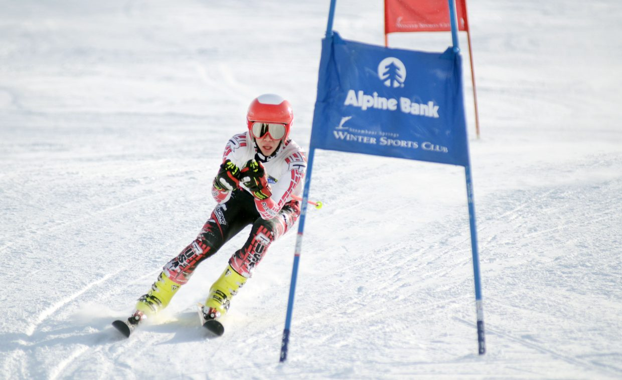 Marat Washburn finished in second Saturday in the U14 boys class at the Steamboat Cup opener.