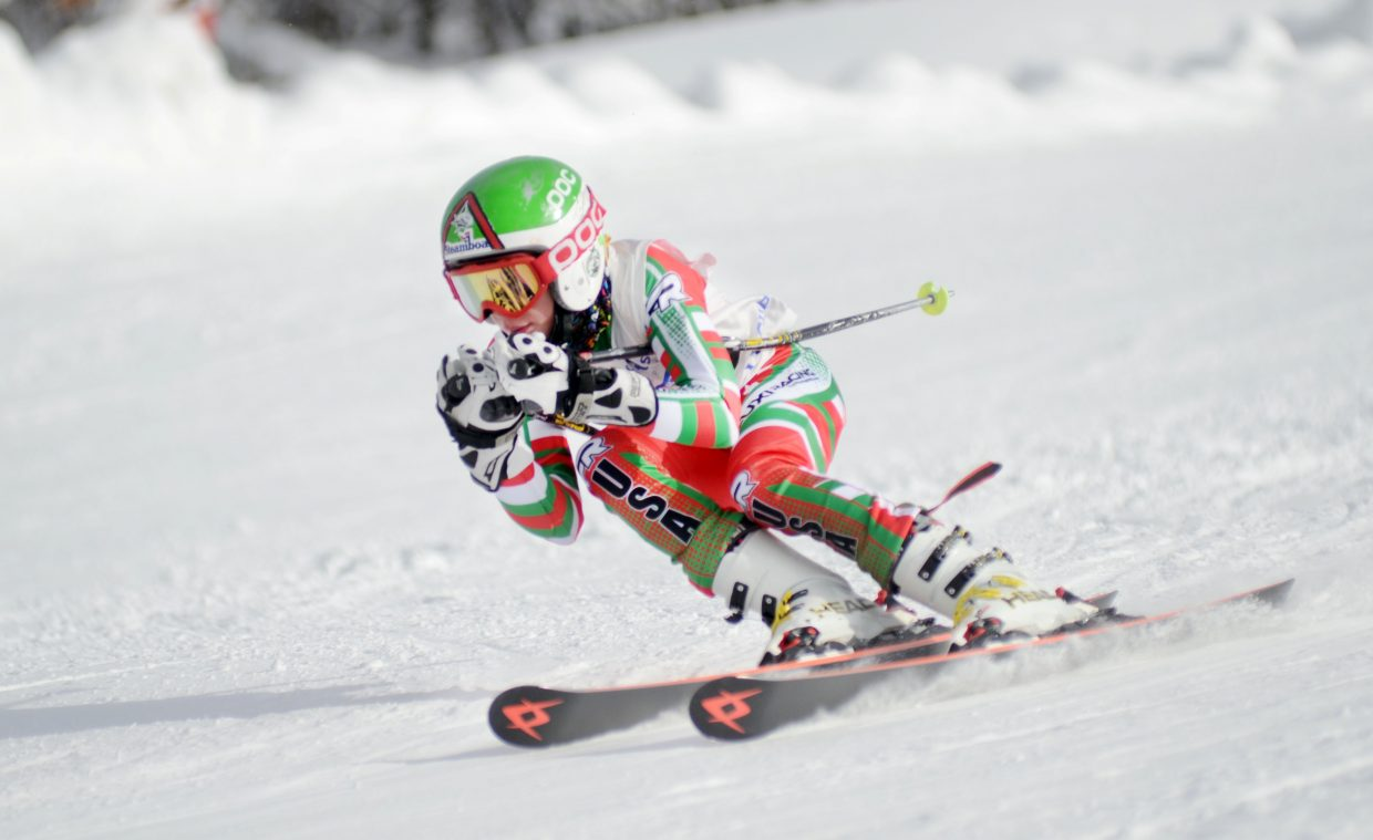 Cooper Puckett dominated Saturday at the Steamboat Cup opener giant slalom held on Steamboat Ski Area's Sitz-See Me run. Puckett, 11, skied up an age class to win the U14 boys division.