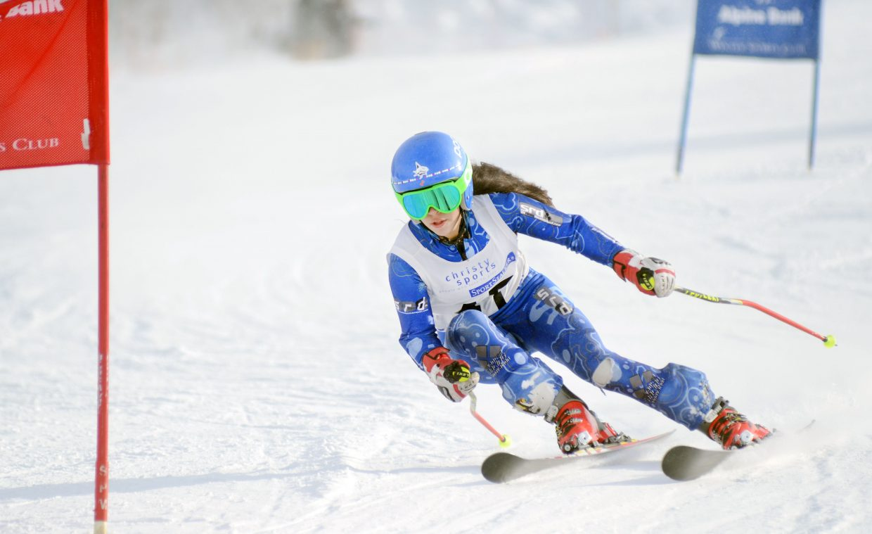 Sequoia Anstine took second in the U14 girls class Sunday at the Steamboat Cup opener.