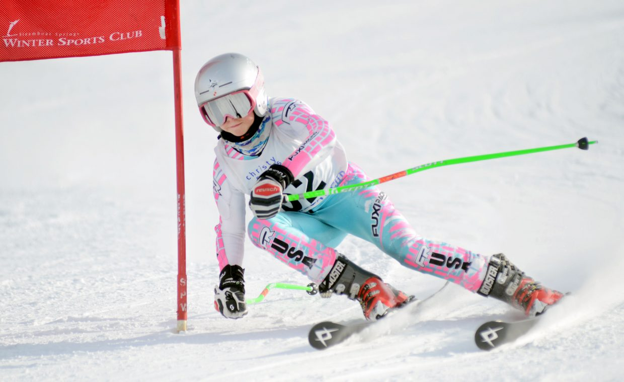 Riley Smith was the U14 girls division top finisher Saturday in the Steamboat Cup opener.