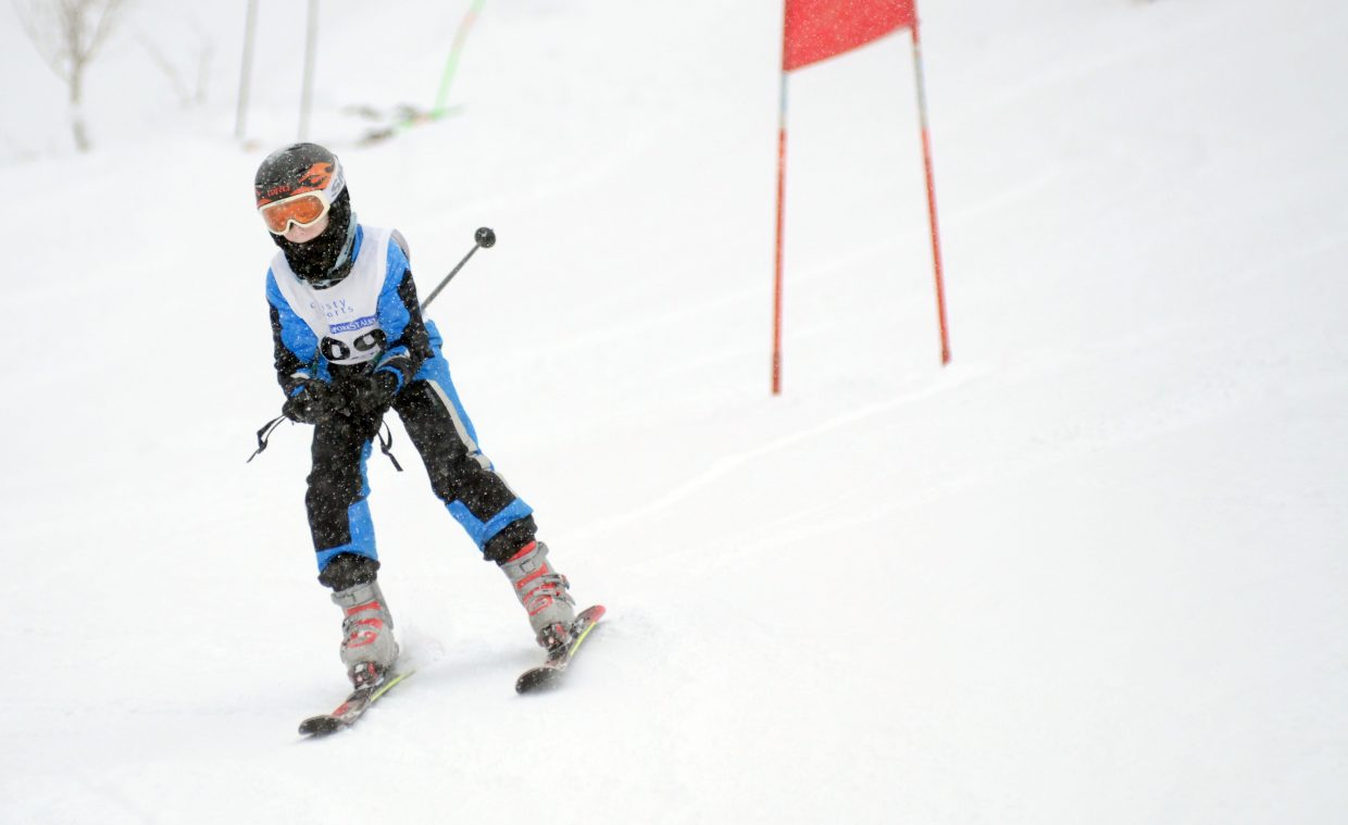 Steamboat Adaptive Recreational Sports development team member Jackson Lewer weaves in and out of the giant slalom gates Sunday during a race at Steamboat Ski Area.