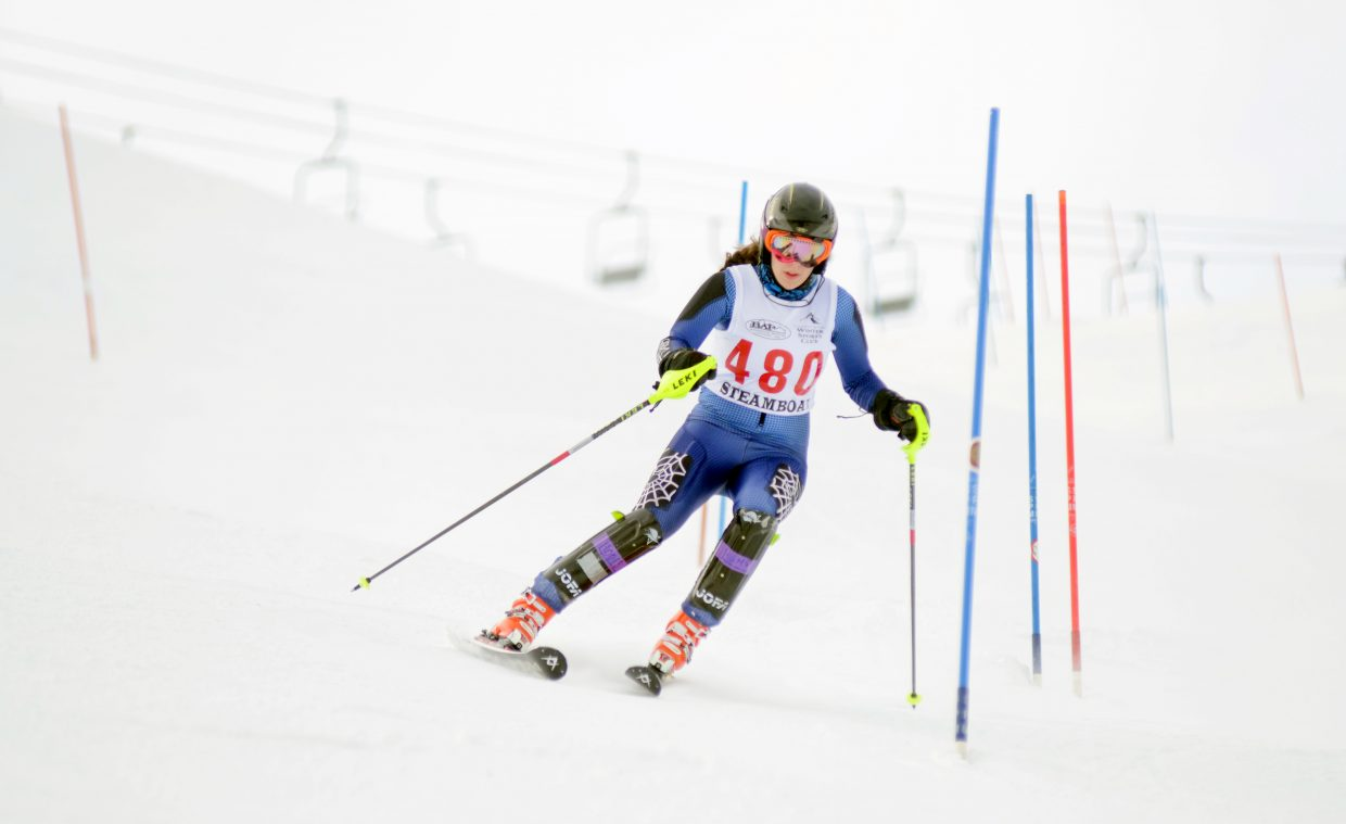 Katie Brodie finished 41st on Friday at the slalom state qualifier race at Howelsen Hill.