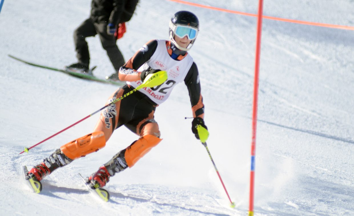 Steamboat's Channing Conner finished 14th overall on Friday, good enough to get in the state slalom race.