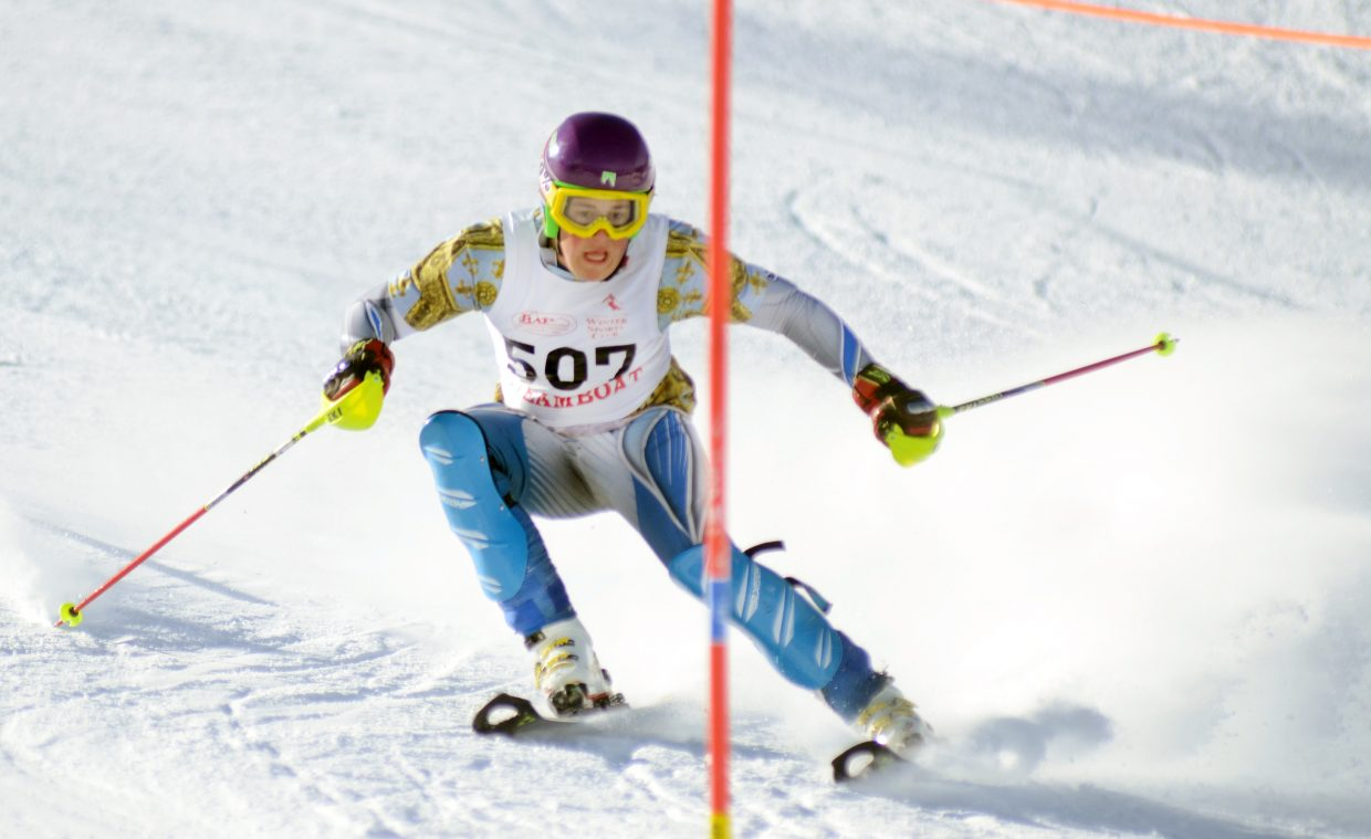 Steamboat Springs' Rio Grabb was the Sailors' top boys finisher on Friday, taking sixth place overall.