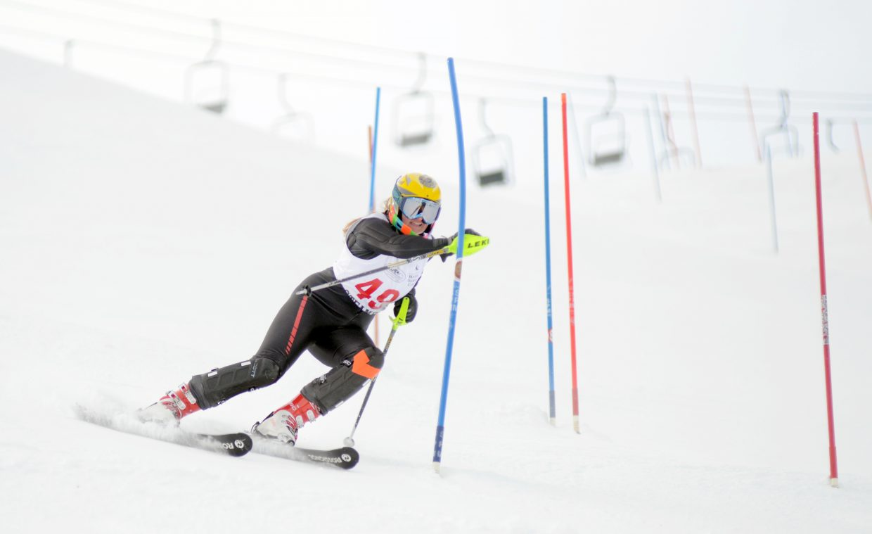 Steamboat's Mariah Hoots qualified for the slalom state championship by finishing in 21st overall.