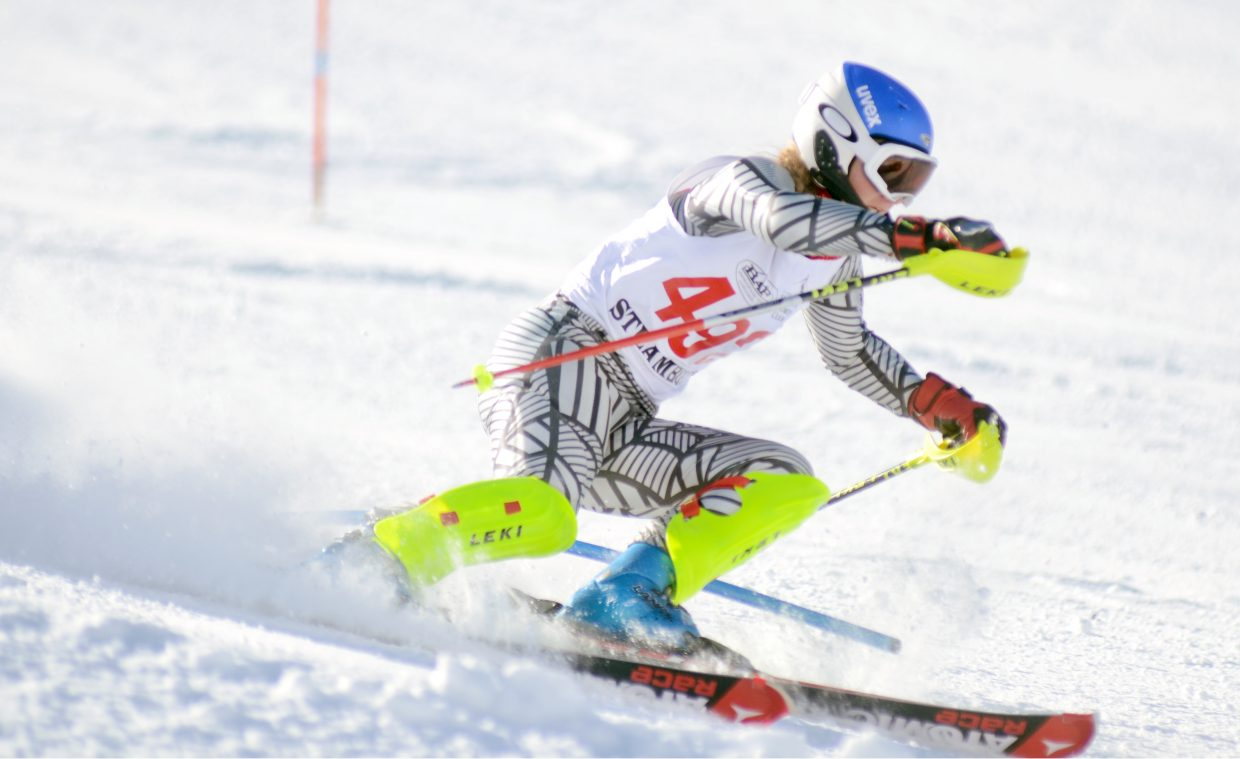 Steamboat Springs High School senior and Alpine ski team captain McKenzie Millard had a strong day on Friday in the Sailors' only home competition of the season. The season's first state championship slalom qualifier also meant a podium finish for Millard, who took third place.