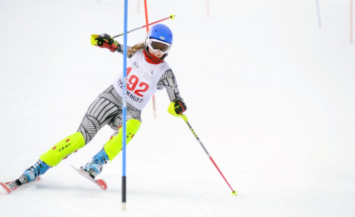 Steamboat Springs senior Alpine skier McKenzie Millard avoided a near disaster during her first run in Friday's home slalom event. Millard shaved more than a second off her next run, earning her a third-place finish.