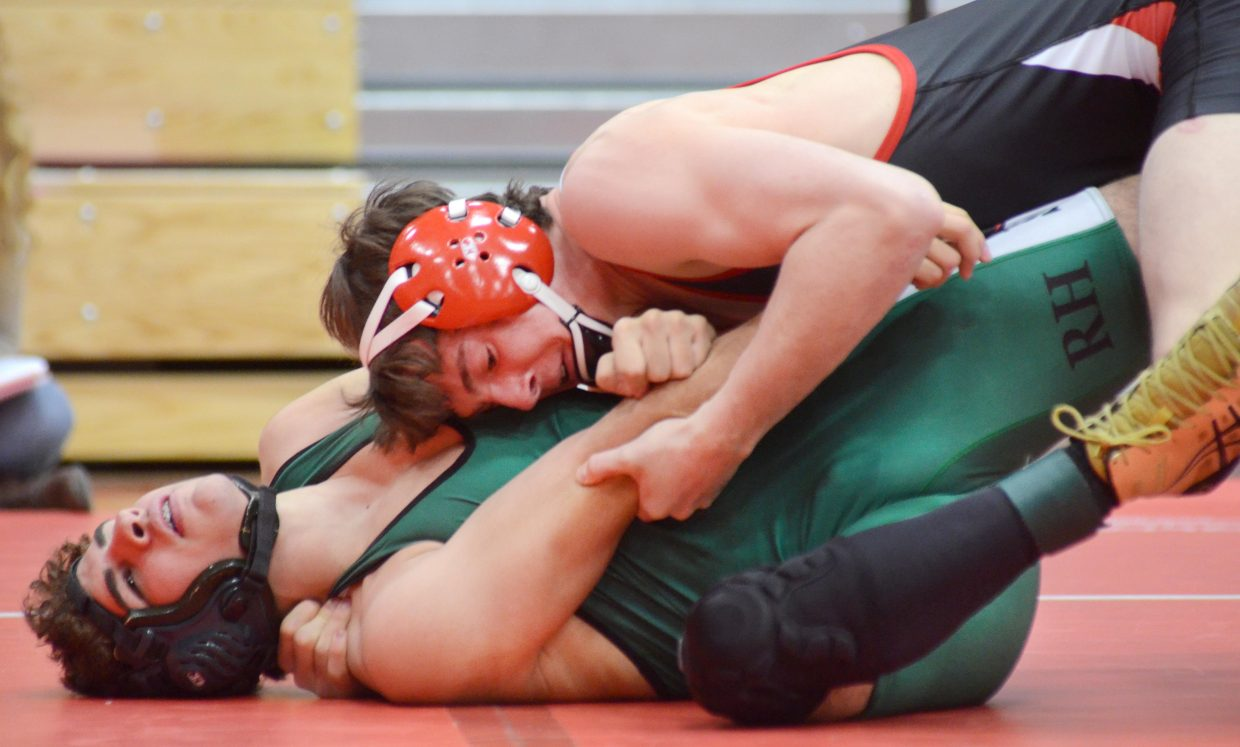 Steamboat Springs sophomore Matthew Hansen had little trouble with any of his four opponents on Saturday, scoring pins in each match.