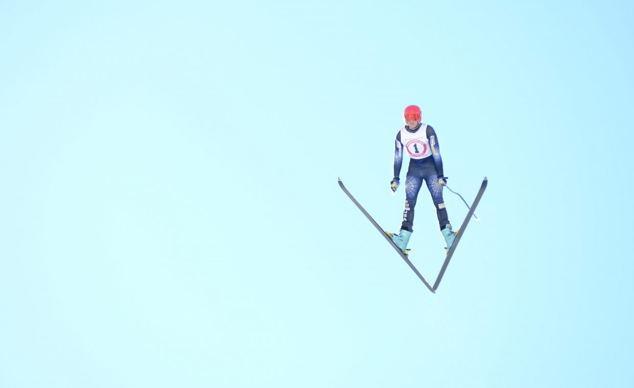 Marsh Gooding took second place at Sunday's Pro Alpine ski jumping finals at Howelsen Hill.
