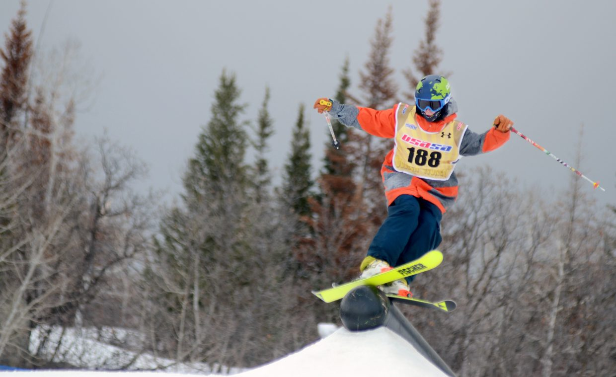 Steamboat Springs' Parker Temple took eighth in the men's 16-18 age class Sunday.