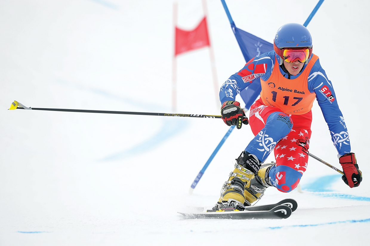 Steamboat Springs' Tanner Visnick cuts around a gate last winter during the Telemark World Cup held in town. Steamboat has played host to the Tele World Cup a number of times, but for the first time ever, will put on the FIS World Championships. Competition begins Tuesday at Howelsen Hill.