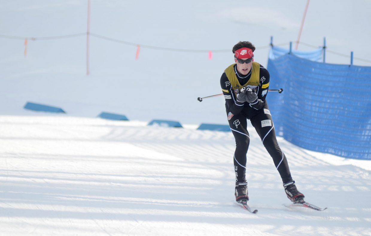 Rocky Mountain Division's Grant Andrews took silver in the U18 men's Nordic combined competition.