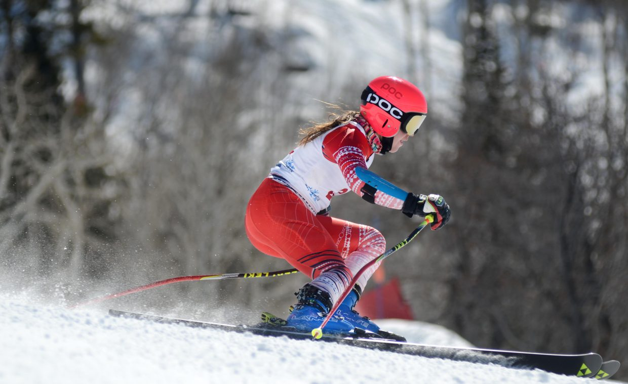 Steamboat Springs Winter Sports Club's Mary Kate Hackworthy took seventh place overall in Friday's giant slalom at the U16 Rocky Mountain Division/Central Division Alpine Championships. It was the club's best finish thus far, boys or girls.