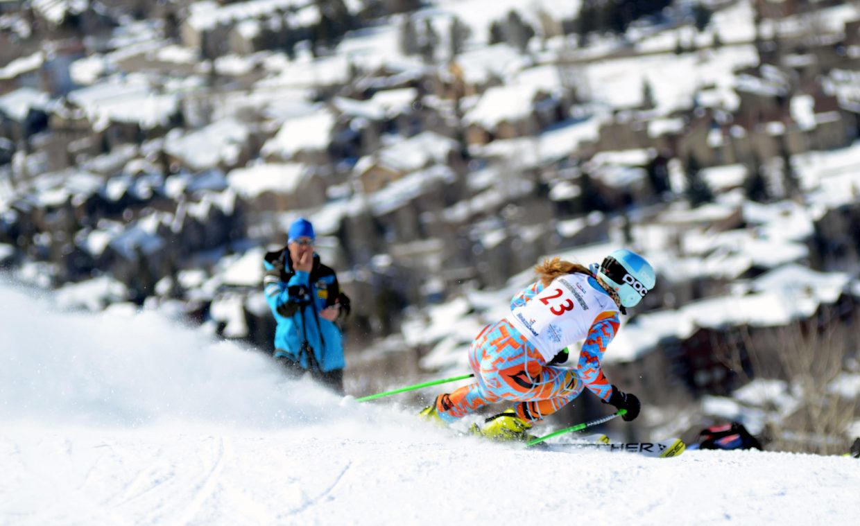 Ski Club Vail's Zoe Schein took 20th overall in Friday's girls giant slalom at the U16 Rocky Mountain Division/Central Division Alpine Championships.