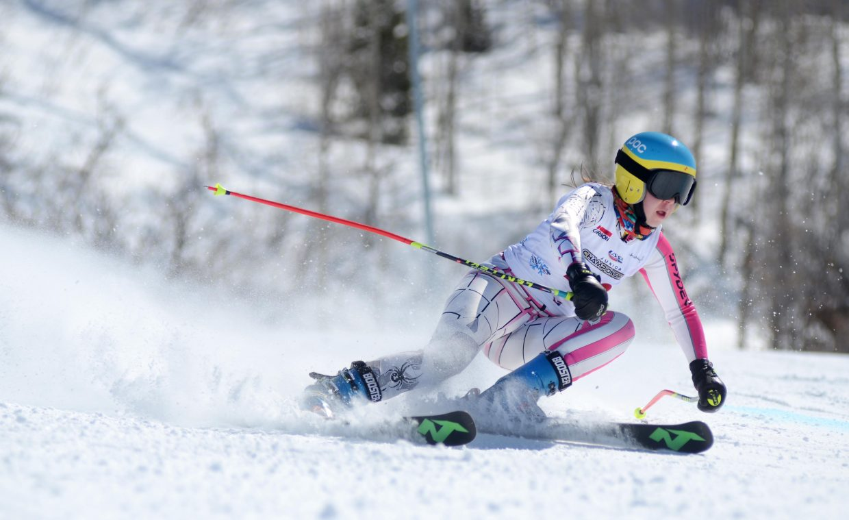 Steamboat Springs Winter Sports Club's Mackenzie Ward took 25th overall at Friday's U16 Rocky Mountain Division Alpine Championships girls giant slalom.