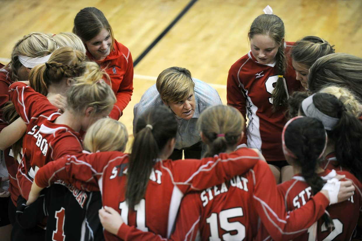 Steamboat Springs High School volleyball coach Wendy Hall was honored Saturday night as the 24th recipient of the Helen D. McCall Memorial Award, given to one coach each year for their work in advancing girls sports in Colorado.