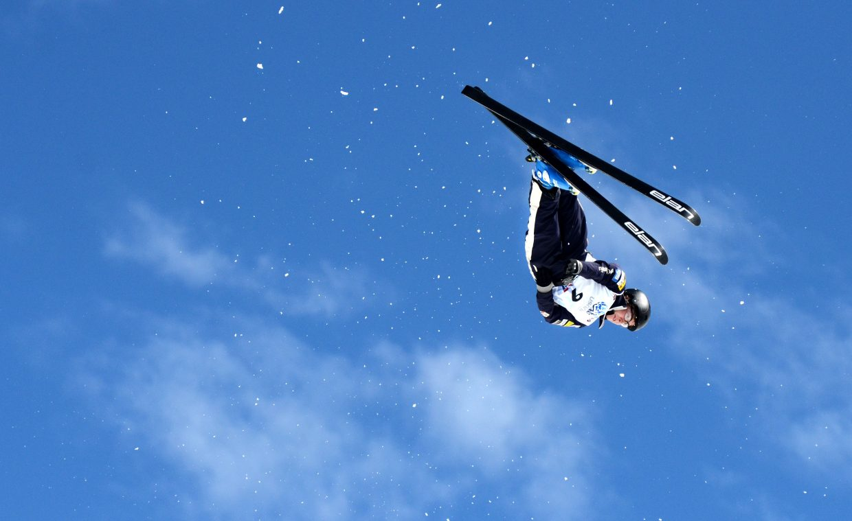 Chris Lillis caught some huge air in his finals jump at the U.S. Freestyle aerials men's championship.
