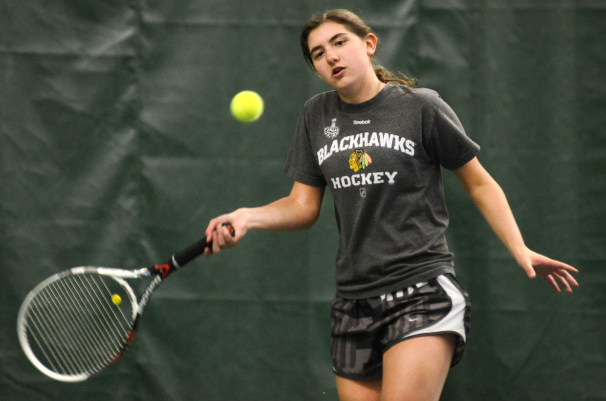 Sailors like No. 2 singles player Maddie Thompson get their first and last shot to perform at home this weekend as Steamboat Springs High School girls tennis hosts Vail on Friday and Lakewood on Saturday at the Tennis Center.