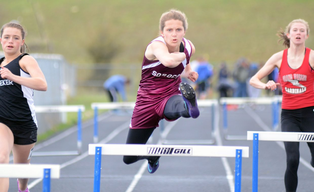 Soroco freshman Mattie Rossi had a career day on Friday in Craig, taking home four firsts, including her new personal-record time in the 300 hurdles.