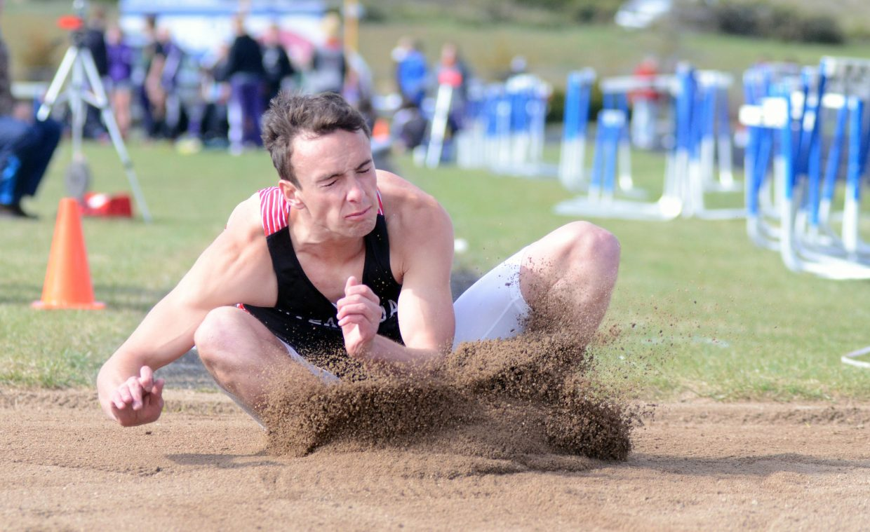 Steamboat Springs' Jake Andersen took fifth in the boys long jump Friday at the Clint Wells Invitational.