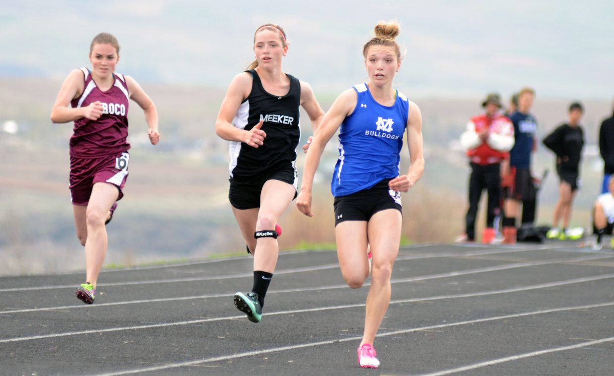Moffat County's Kayla Pinnt broke her own school record and set a new Clint Wells Invitational record on Friday in the 100-meter dash.