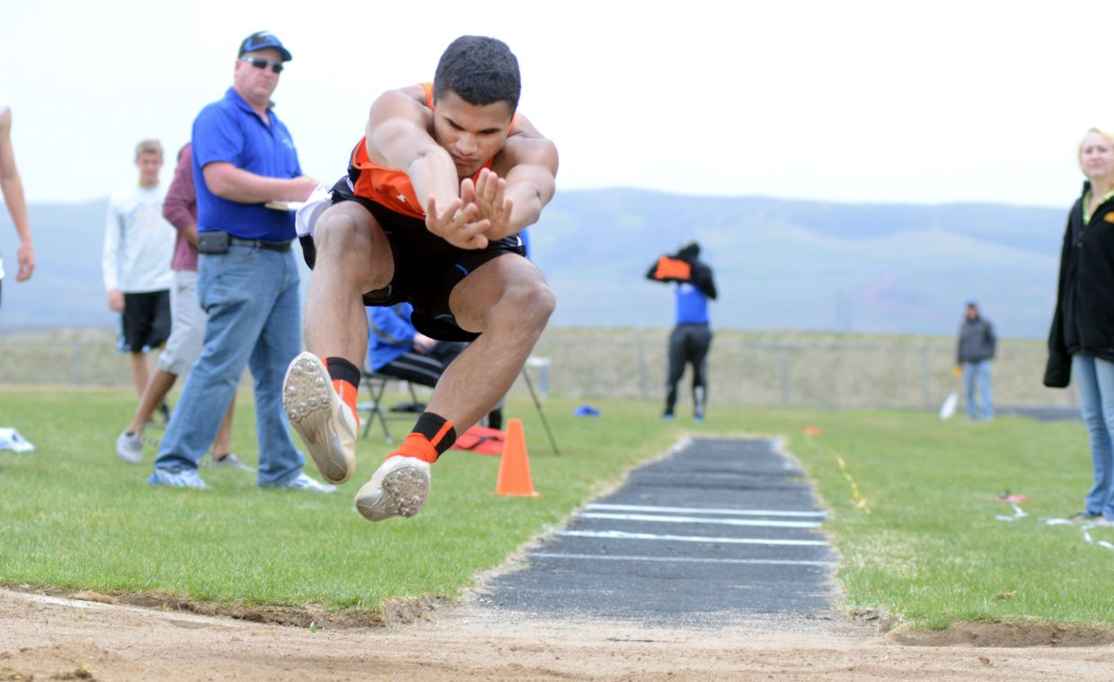 Hayden's Jack Redmond set a new career-best mark in the triple jump Friday in Craig, leaping more than 42-feet-6-inches.