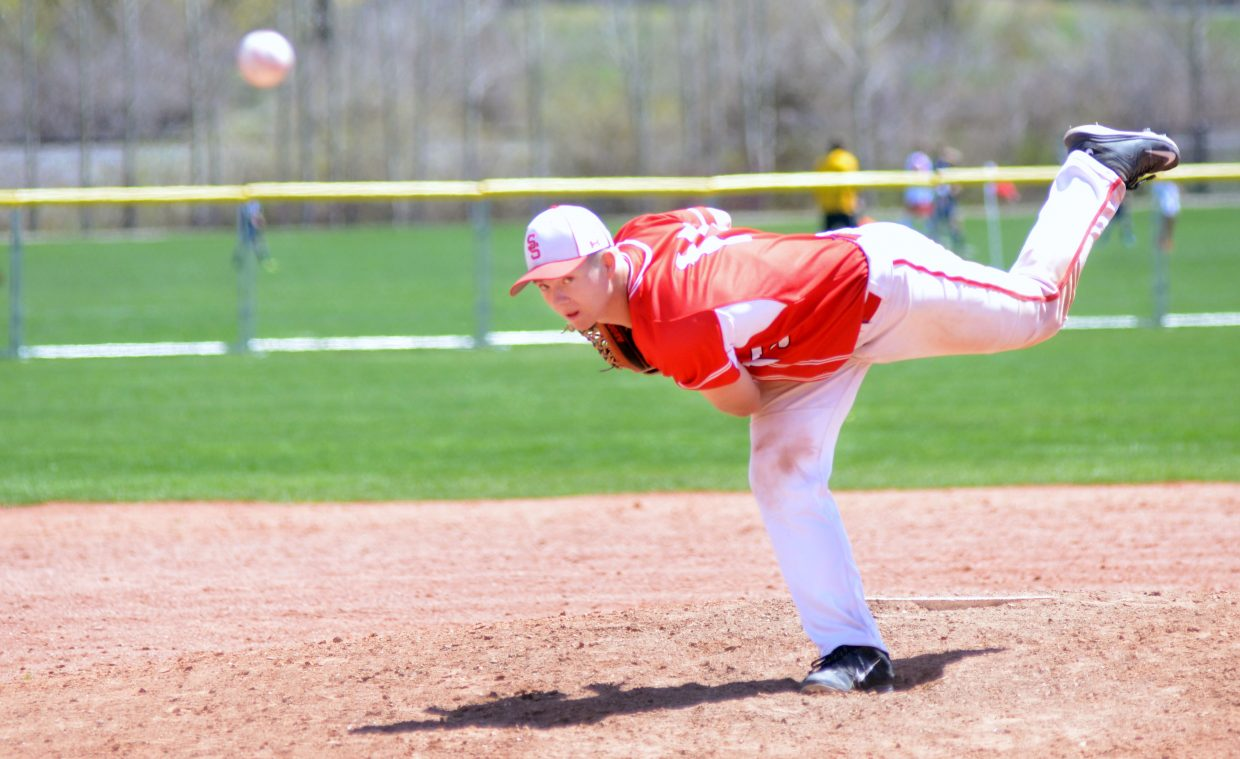 Steamboat Springs High School senior Billy Clark started Game 2 of Saturday's doubleheader with Battle Mountain.