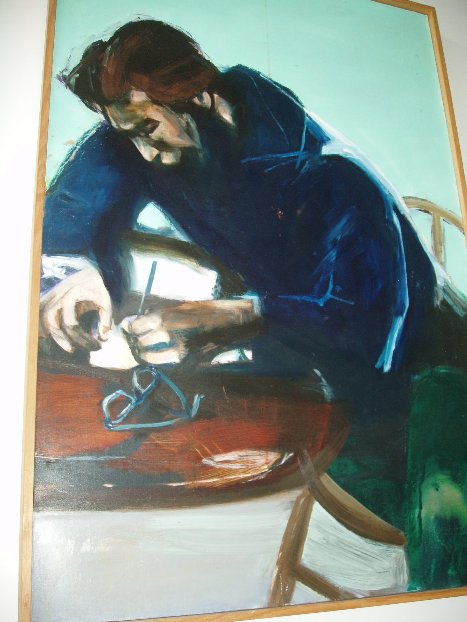 "Doug Kinsey, Oil, ""The Writer,"" Jim Cook"