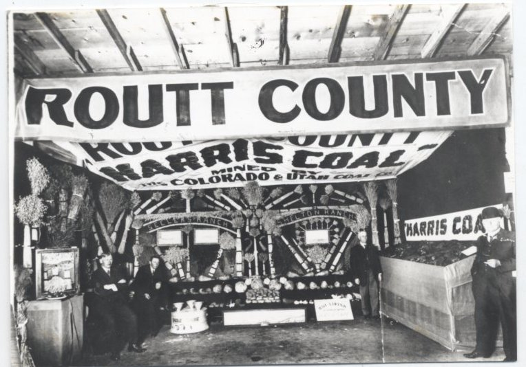 Harris Coal had a display at the Routt County Fair back in the early days of the fair. At the 1929 and 1940 fairs, teams from the local mines competed in a Mine Safety Contest.