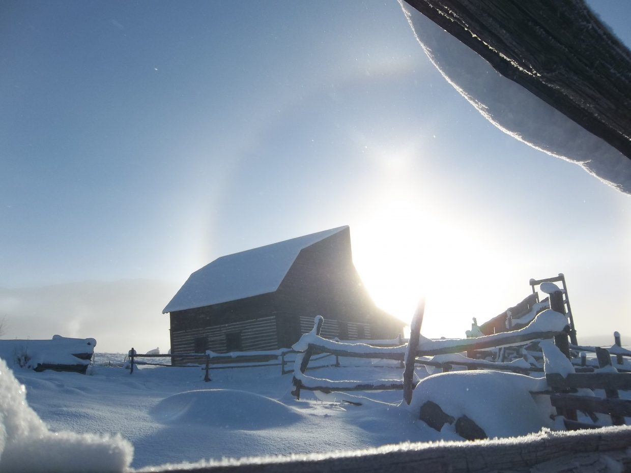 Sundog over the More Barn. Submitted by: Bill Dorr