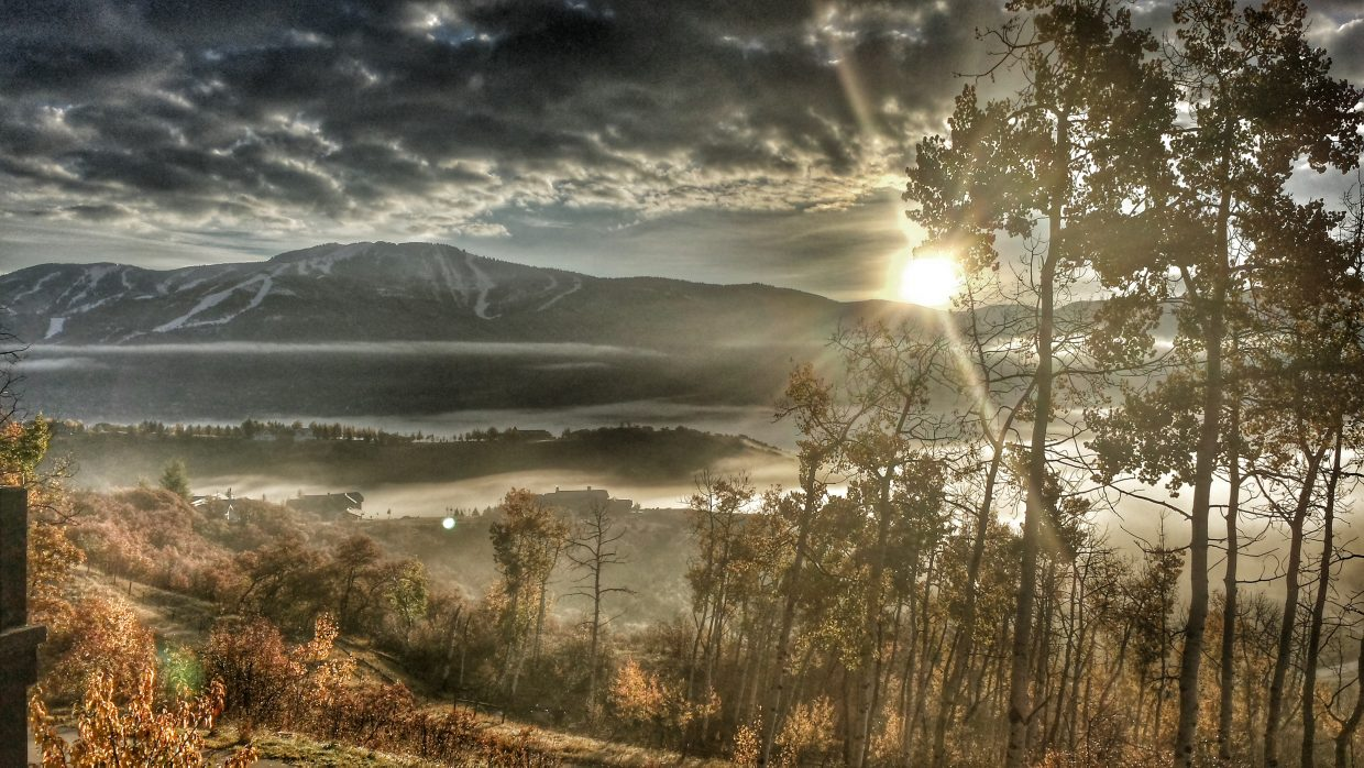 Sunrise shot a few weeks ago looking towards the ski area. Submitted by: Lucas Crespin