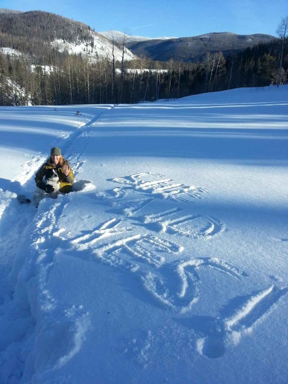 Meanwhile, somewhere in North Routt on Christmas Day... Submitted by: Lyle Berry
