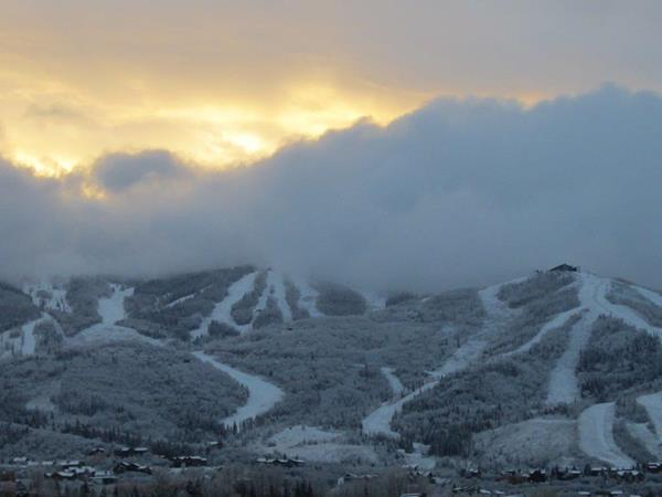 Monday's mountain snow. Submitted by: Ann Ross
