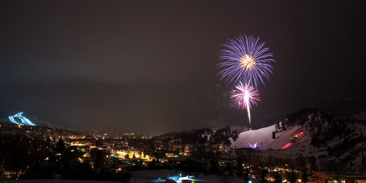 Fireworks at the 101st Winter Carnival. Submitted by: John MacArthur