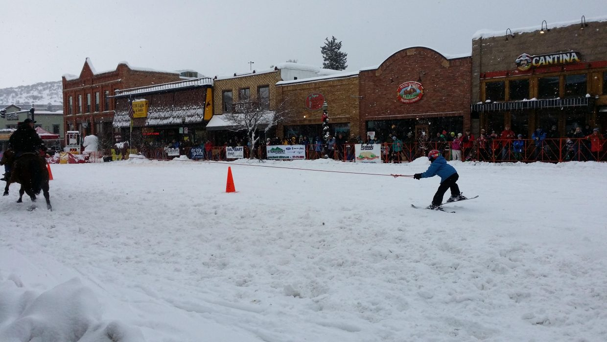 Watching the street events in Steamboat. Submitted by Jane Connor.