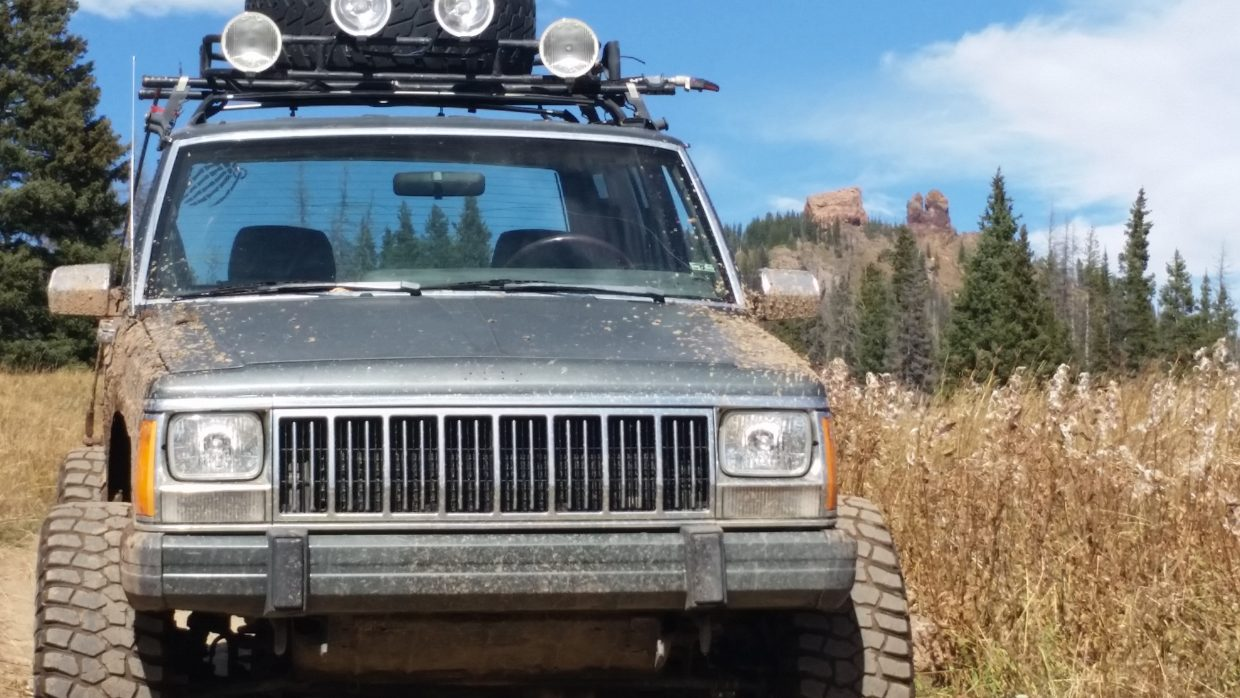 Jeeping up on Rabbit Ears Pass. Submitted by Brady Suppeland.