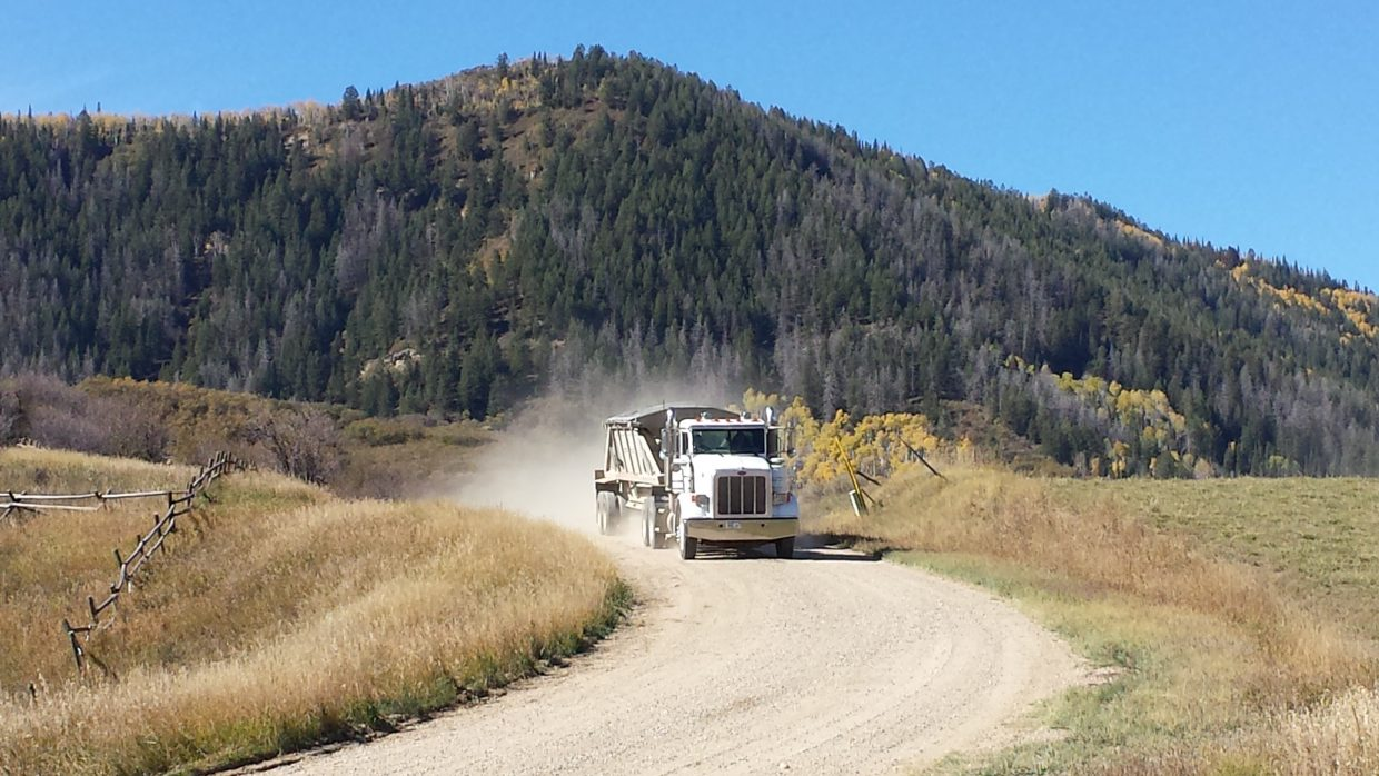 Gravel hauling. Submitted by Wyatt Case.