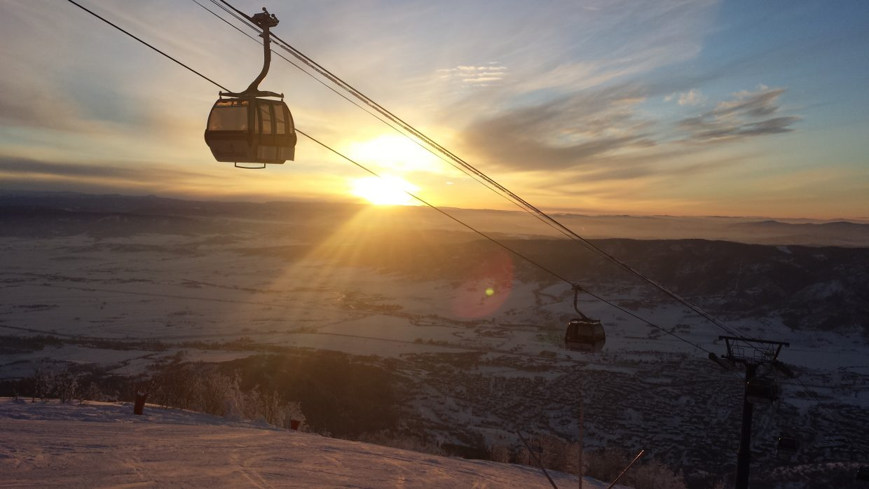 Last sunset of 2014 taken from Top of Heavenly Daze, Steamboat Ski Resort. Submitted by: Sandra Whited.