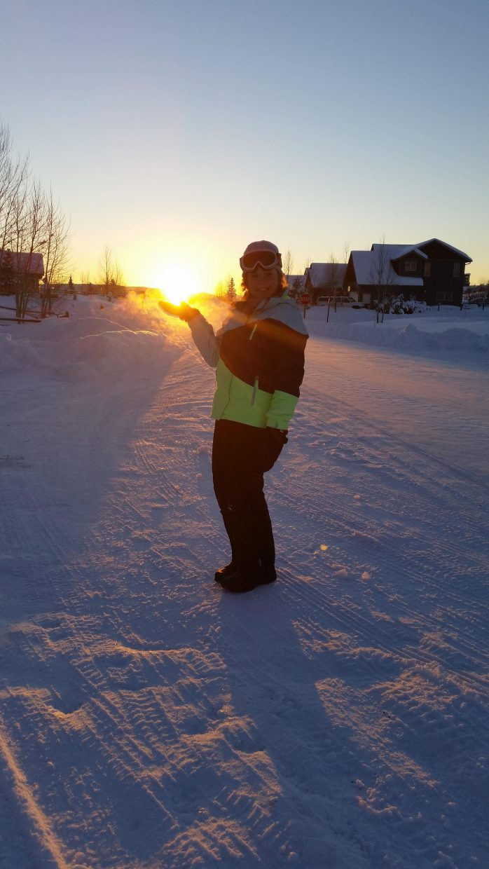 Catching the first sunset of 2015 after some sledding in Silver Spur. Submitted by: Lee Dietz