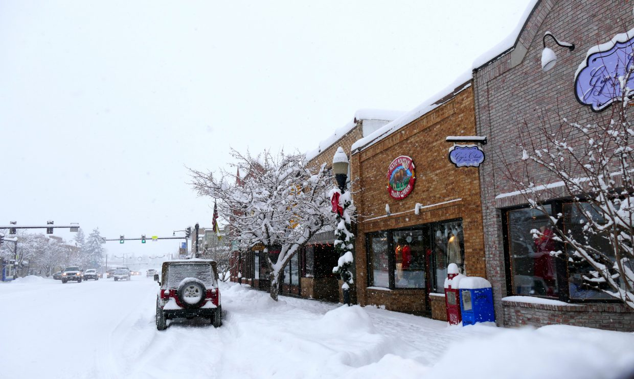 Snowy Downtown Steamboat. Submitted by Shannon Lukens.