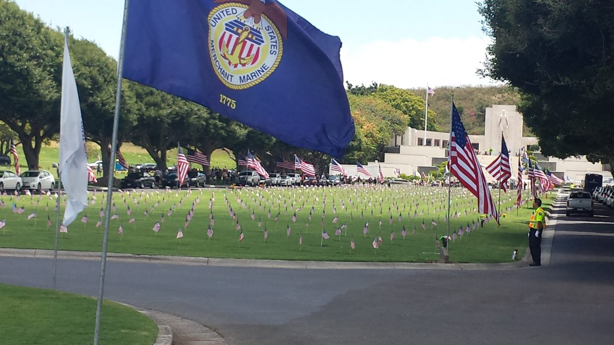At the National Memorial Cemetery of the Pacific Punchbowl. Hawaii. Submitted by Sonia Franzel.