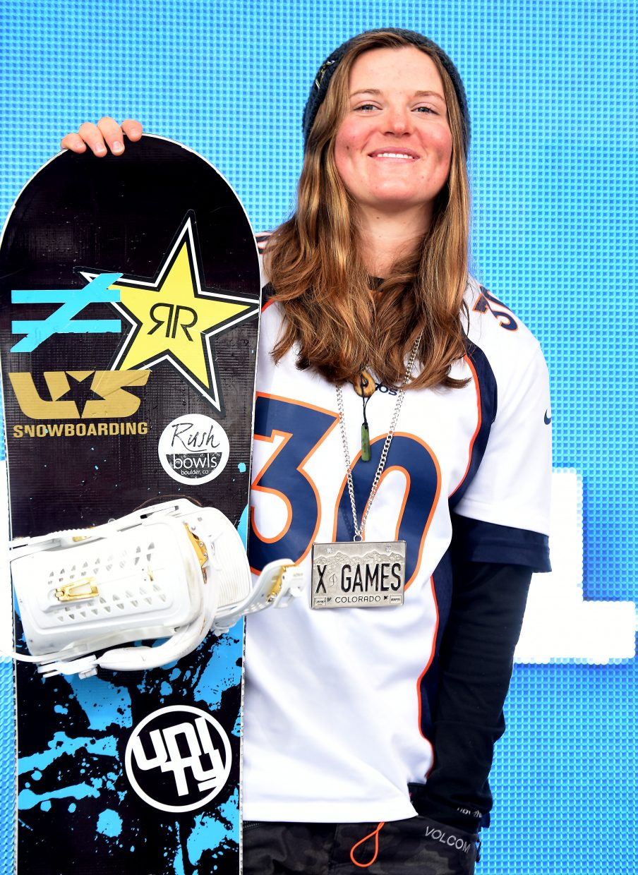 Steamboat Springs snowboarder Arielle Gold logged her best finish at X Games last winter, placing second.