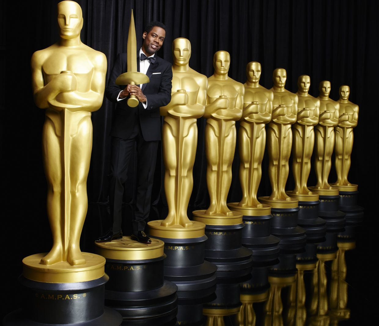 "Comedian Chris Rock hosts the 88th annual Academy Awards, which take place Sunday evening on ABC. ""The Revenant"" leads nominations with 12."