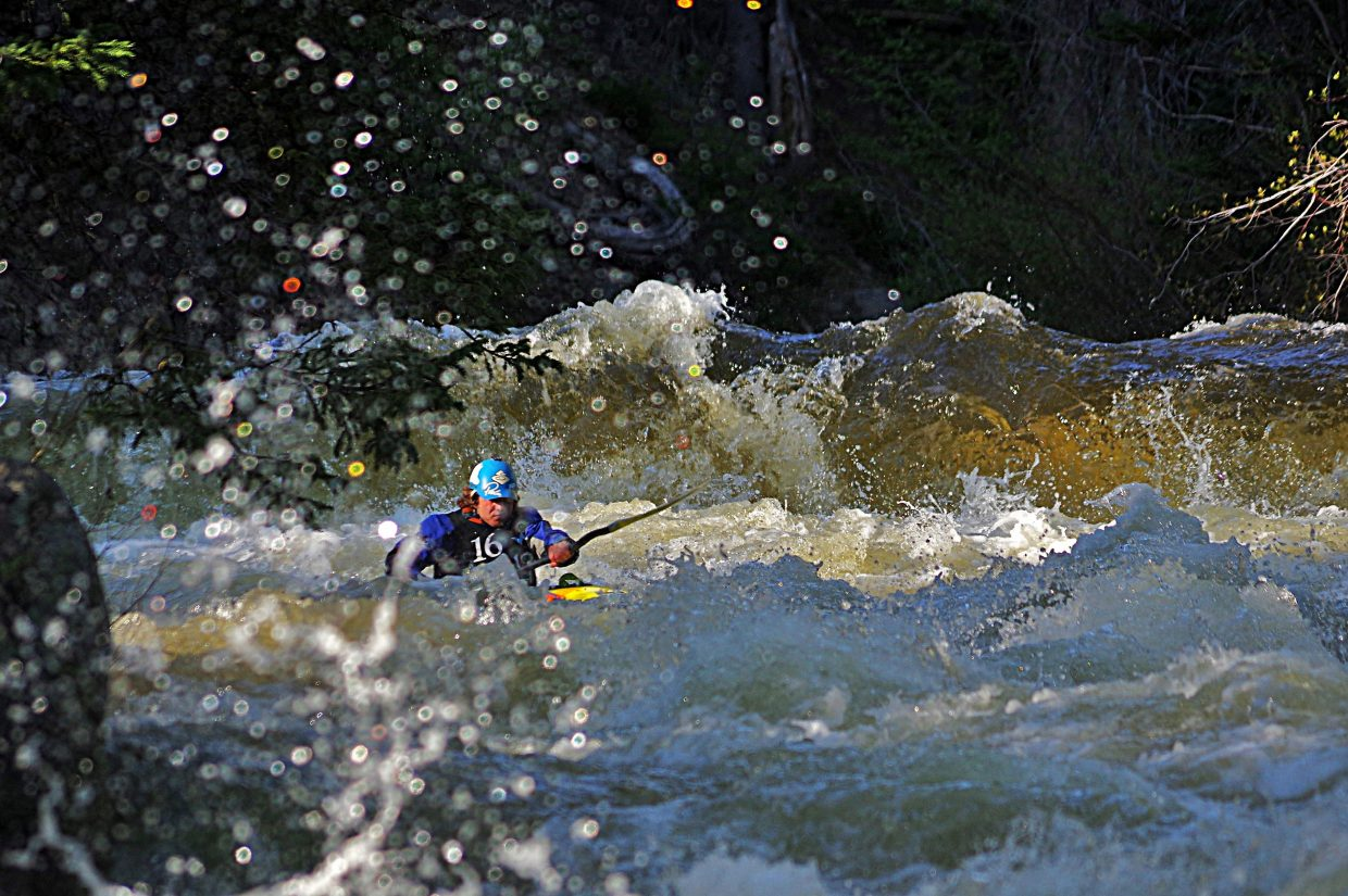 During the race at Fish Creek Falls. Submitted by Matt Helm.